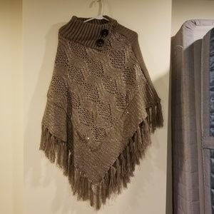 Sweaters - Poncho- one size fits all